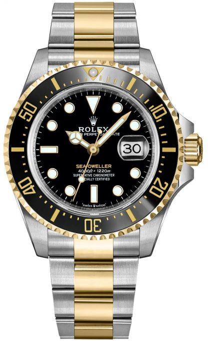 replique Montre pour homme Rolex Sea-Dweller en or massif et acier Oystersteel 126603