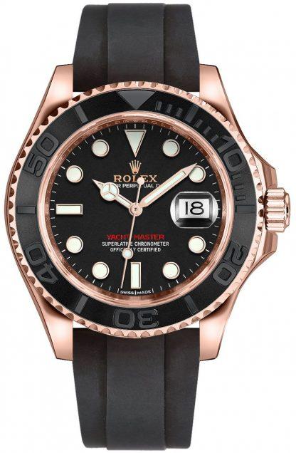 replique Montre pour homme Rolex Yacht-Master 40 Everose en or 116655