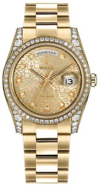 replique Montre suisse Rolex Day-Date 36 Gold Diamond 118388