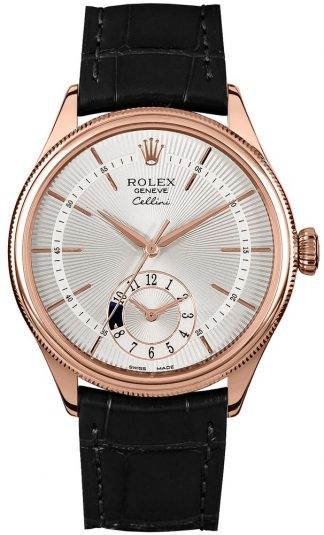 replique Rolex Cellini Dual Time Double Bezel Men's Watch 50525