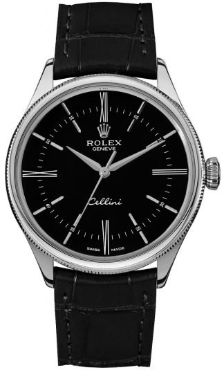 replique Rolex Cellini Time Black Dial Watch 50509