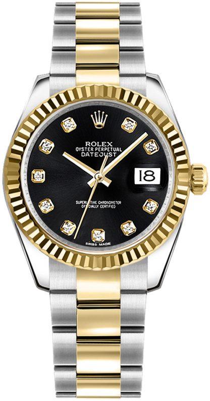 replique Rolex Datejust 31 Black Dial Women's Watch 178273