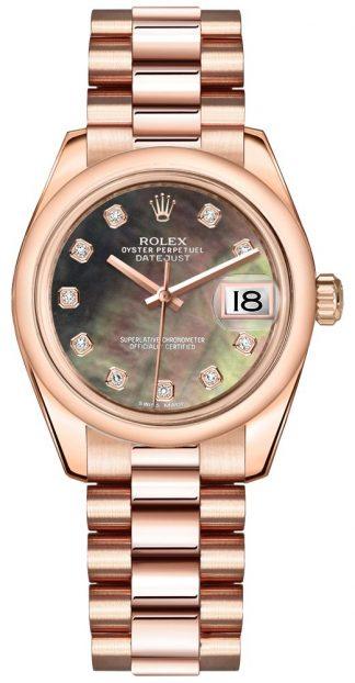 replique Rolex Datejust 31 Black cadran nacre 178245