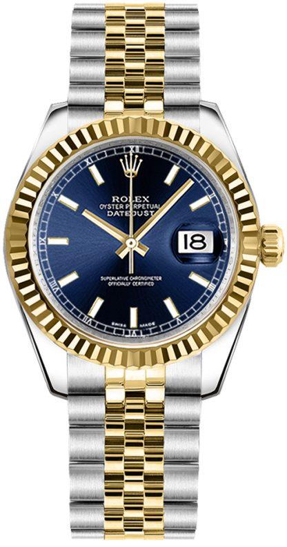 replique Rolex Datejust 31 Blue Dial Jubilee Bracelet Watch 178273