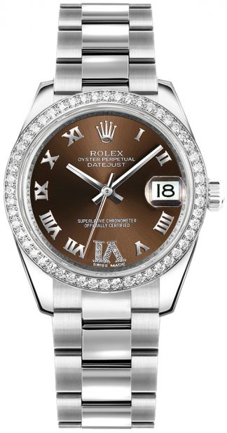 replique Rolex Datejust 31 Bronze Dial Diamond Watch 178384
