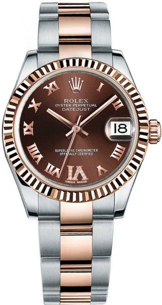 replique Rolex Datejust 31 Brown Chocolate Dial Watch 178271