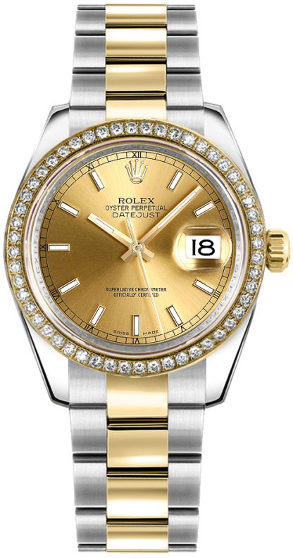 replique Rolex Datejust 31 Champagne Dial Montre 178383