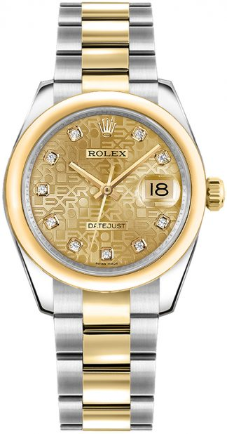 replique Rolex Datejust 31 Champagne Jubilee Dial Montre 178243