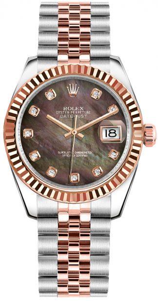 replique Rolex Datejust 31 Diamond Dial Two Tone Watch 178271