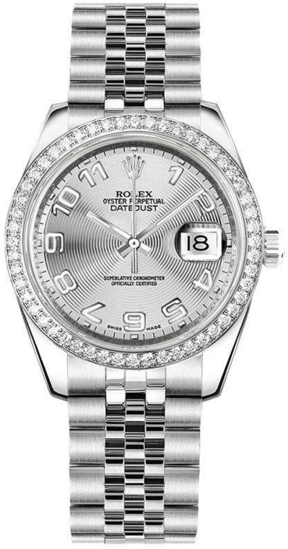 replique Rolex Datejust 31 Diamond Gold Bezel Watch 178384
