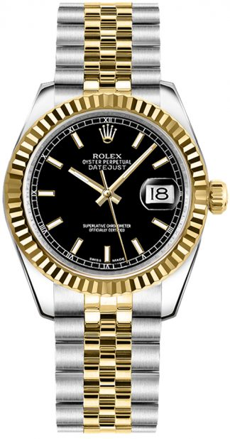 replique Rolex Datejust 31 Fluted Bezel Watch 178273