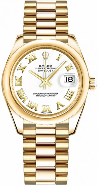 replique Rolex Datejust 31 Gold Women's Watch 178248