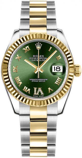 replique Rolex Datejust 31 Green Dial Women's Watch 178273