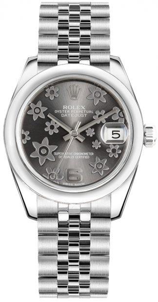 replique Rolex Datejust 31 - Montre à cadran à motif floral 178240