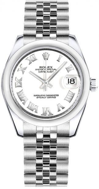 replique Rolex Datejust 31 Montre à cadran blanc en acier inoxydable 178240