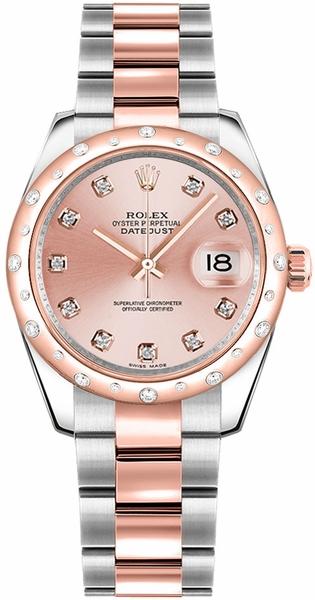 replique Rolex Datejust 31 Montre à cadran en diamant rose 178341