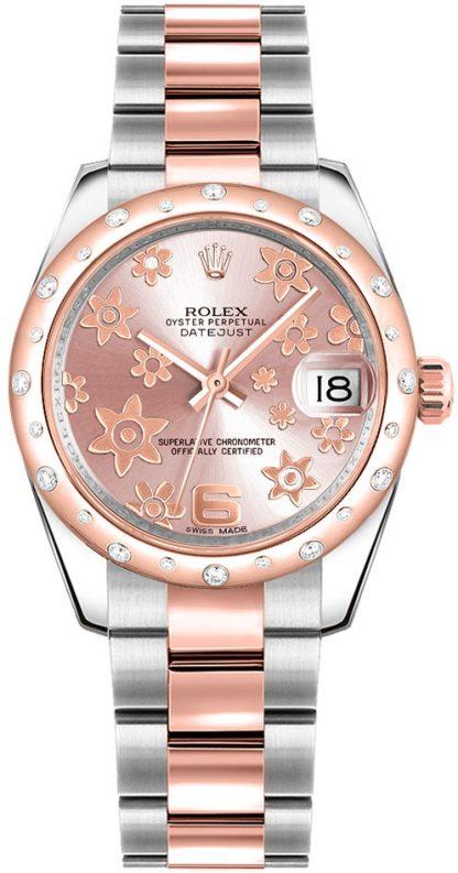 replique Rolex Datejust 31 - Montre à cadran floral rose 178341