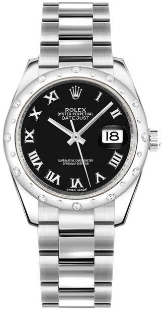 replique Rolex Datejust 31 - Montre à cadran noir et chiffres romains 178344