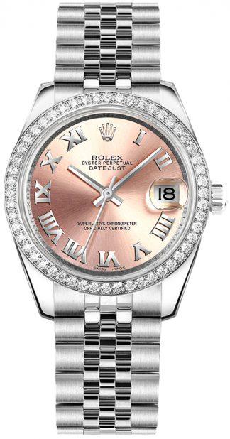 replique Rolex Datejust 31 - Montre à chiffres romains roses 178384