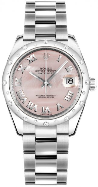 replique Rolex Datejust 31 - Montre cadran nacre rose 178344