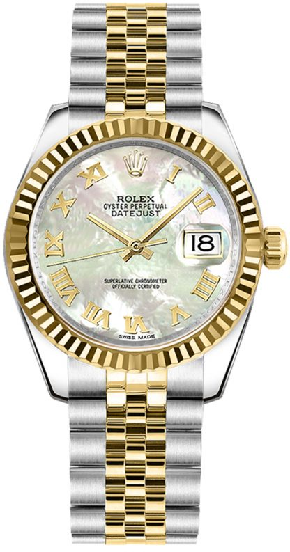 replique Rolex Datejust 31 Mother of Pearl Dial Watch 178273