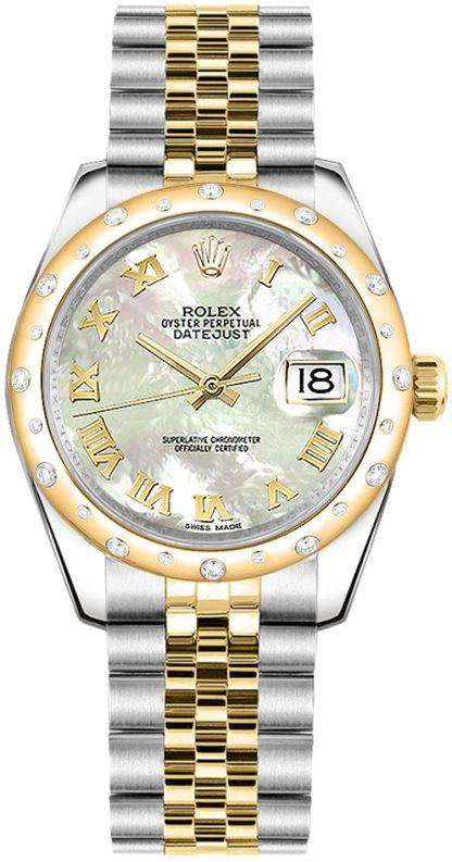 replique Rolex Datejust 31 Nacre romaine Montre 178343