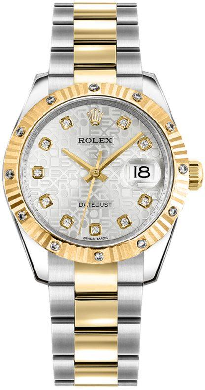 replique Rolex Datejust 31 Oyster Bracelet Silver Jubilee Diamond Watch 178313