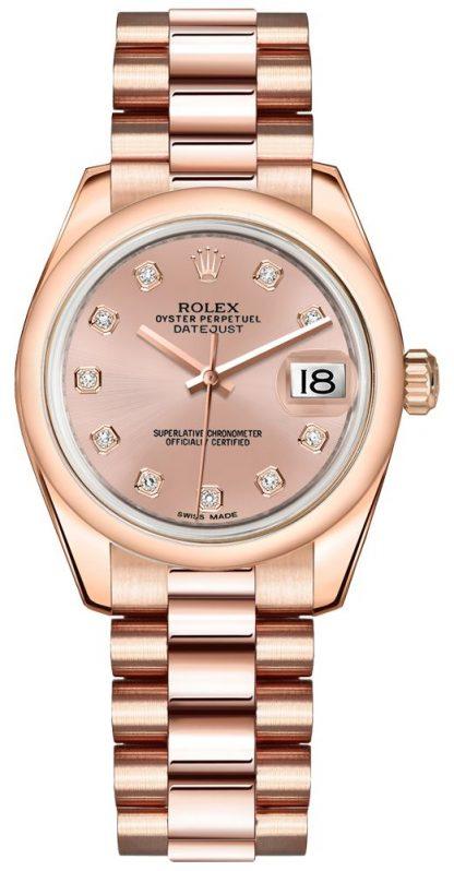 replique Rolex Datejust 31 Pink Dial Women's Watch 178245