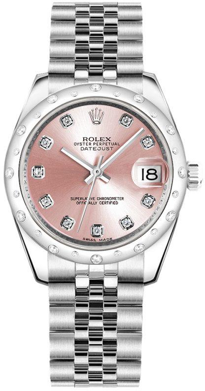 replique Rolex Datejust 31 Pink Diamond Watch 178344