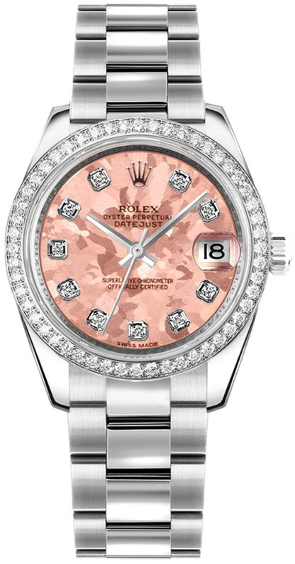 replique Rolex Datejust 31 Pink Diamond Watch 178384