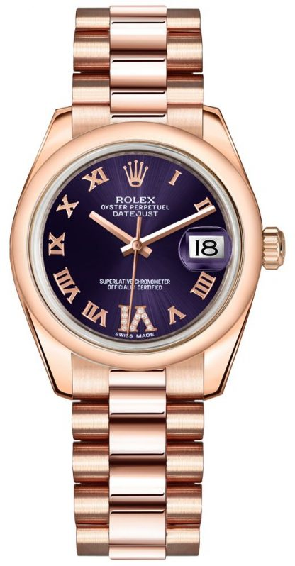 replique Rolex Datejust 31 Purple Dial Women's Watch 178245