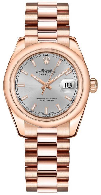 replique Rolex Datejust 31 Silver Dial Watch 178245
