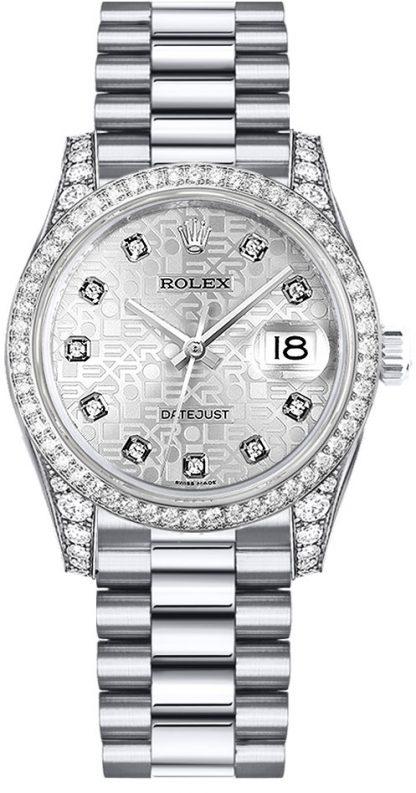 replique Rolex Datejust 31 Silver Jubilee Dial Diamond Watch 178159