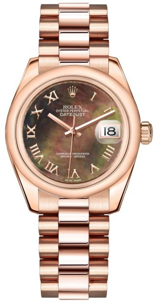 replique Rolex Datejust 31 Solid 18k Everose Gold Watch 178245