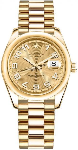 replique Rolex Datejust 31 Solid Gold Watch 178248