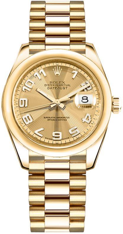 replique Rolex Datejust 31 Solid Gold Watch 178248