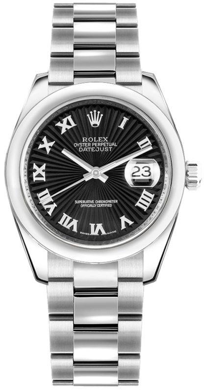 replique Rolex Datejust 31 Sunbeam Black Dial Watch 178240