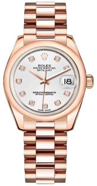 replique Rolex Datejust 31 White Dial Watch 178245