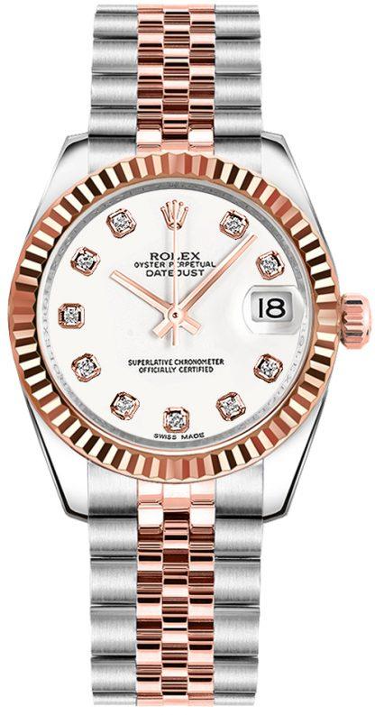 replique Rolex Datejust 31 White Dial Watch 178271