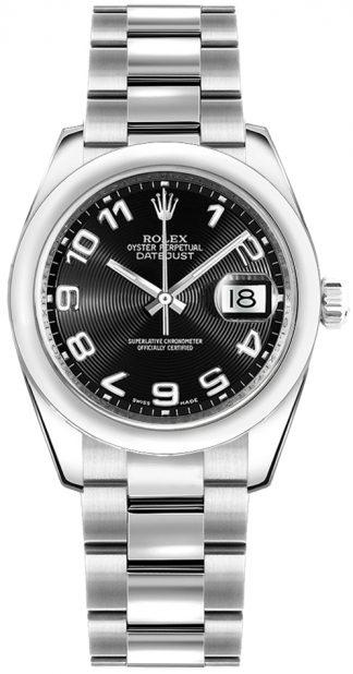 replique Rolex Datejust 31 acier cadran noir montre 178240