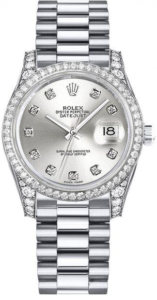replique Rolex Datejust 31 cadran argenté Diamond Watch 178159