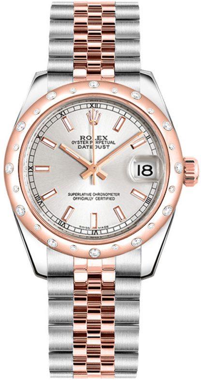 replique Rolex Datejust 31 cadran argenté Montre 178341