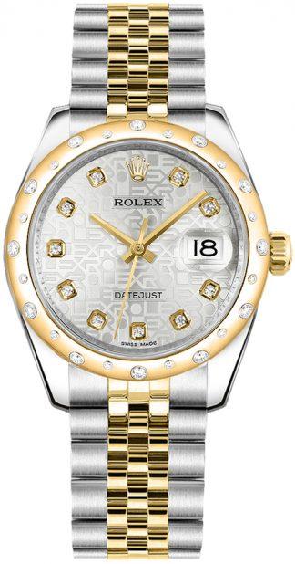 replique Rolex Datejust 31 cadran argenté Montre 178343