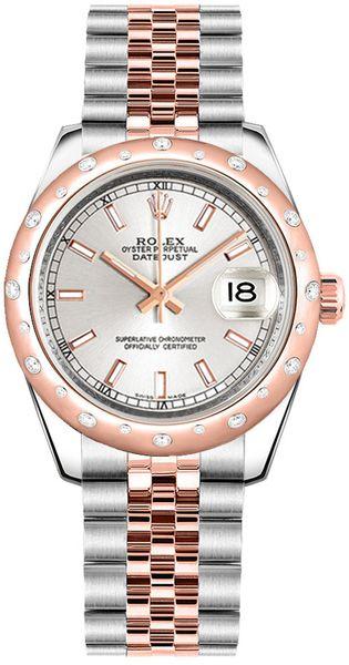 replique Rolex Datejust 31 cadran argenté Oyster Bracelet acier et montre en or 178341