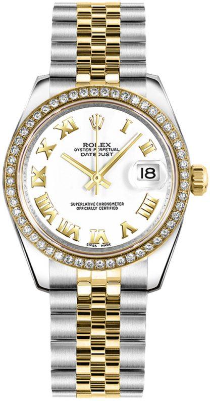 replique Rolex Datejust 31 cadran blanc à chiffres romains 178383