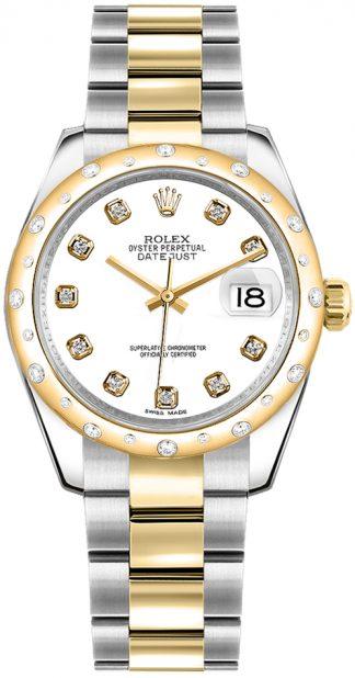 replique Rolex Datejust 31 cadran diamant blanc 178343
