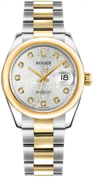 replique Rolex Datejust 31 cadran jubilé en argent 178243