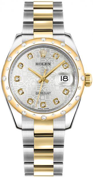 replique Rolex Datejust 31 cadran jubilé en argent or et acier 178343