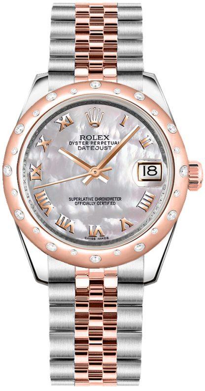 replique Rolex Datejust 31 cadran nacré en or rose et acier 178341