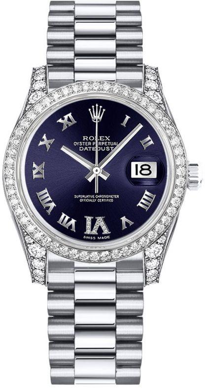 replique Rolex Datejust 31 cadran violet diamant montre 178159